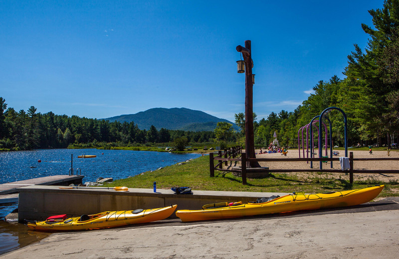Canoes at Owaissa Club Vacation Rentals.