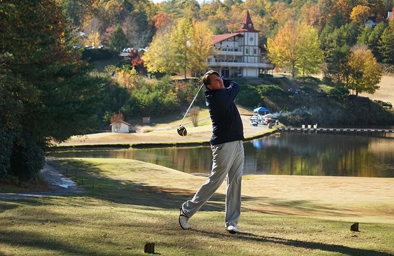 Golfing at Valhalla Resort Hotel.