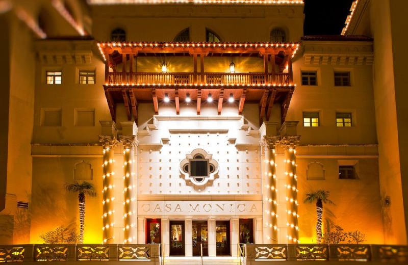 Exterior view of Casa Monica Hotel.