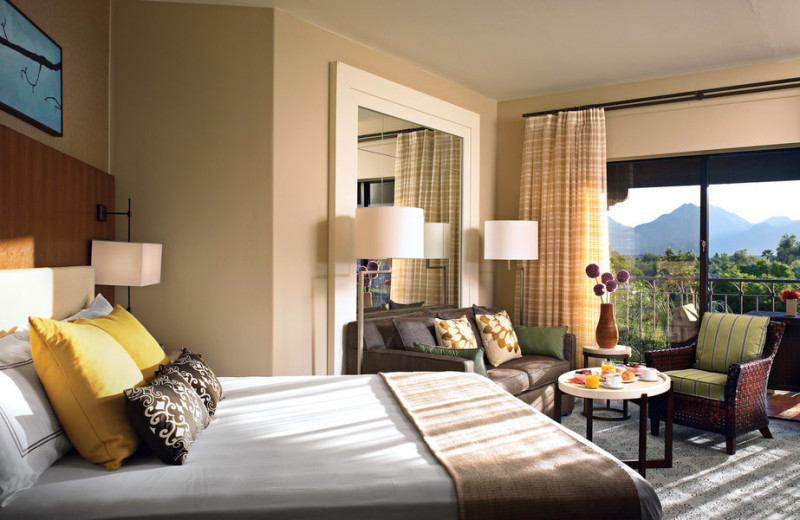 Guest room at The Fairmont Scottsdale Princess.