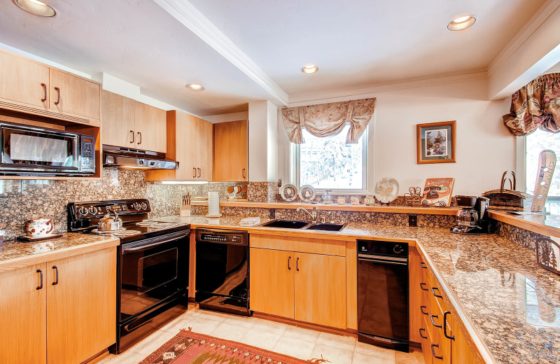 Rental kitchen at The Centennial Lodge.