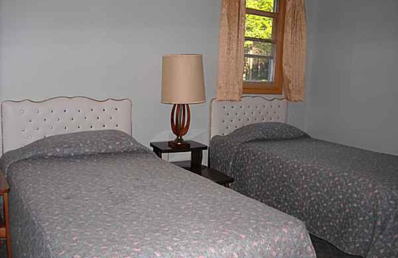 Cabin Bedroom at Kafka's Resort