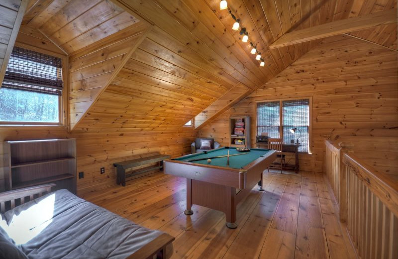 Rental loft at North Georgia Vacation Spots.