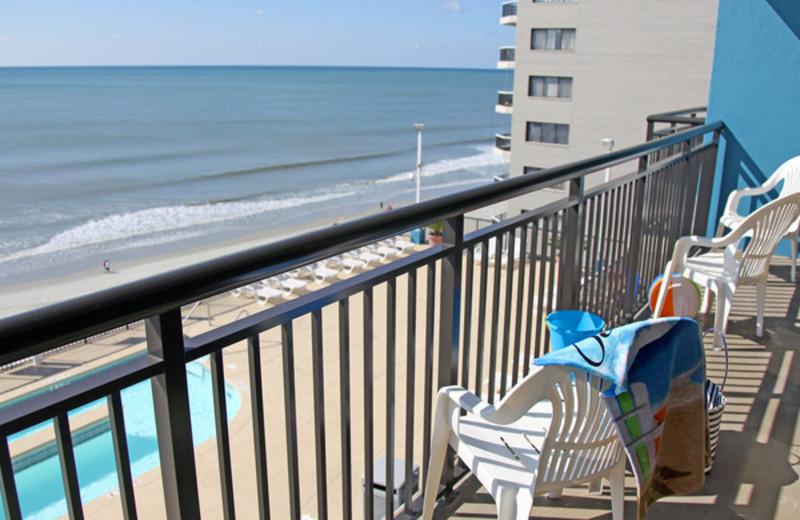 Balcony view at Grande Shores Ocean Resort.