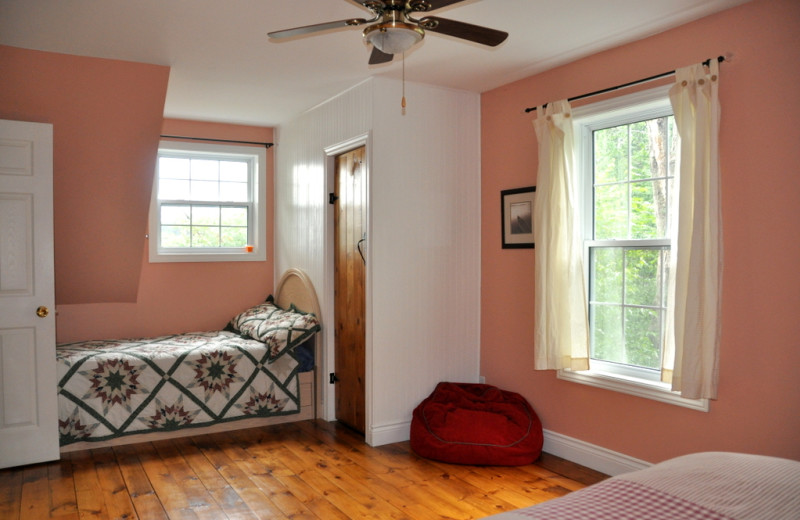 Rental bedroom at Cottage Vacations.