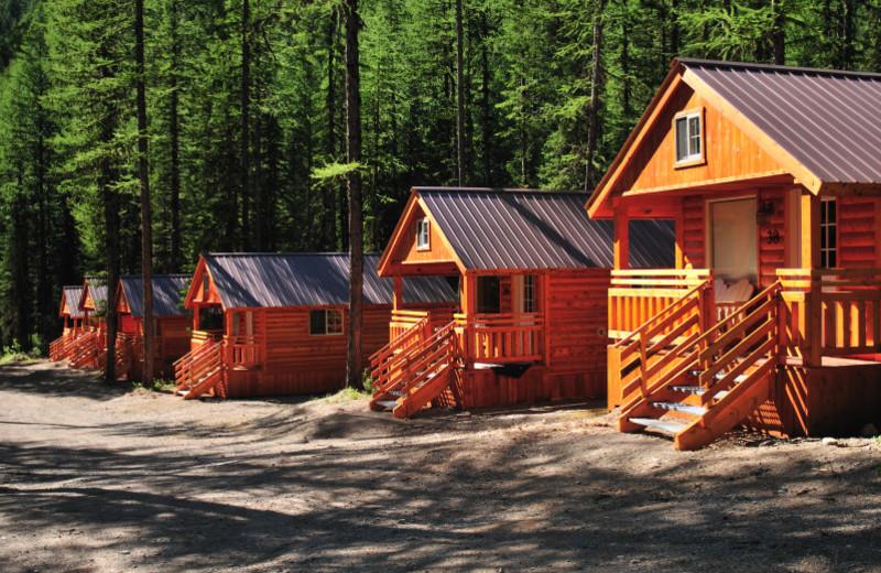 Cabins at Izaak Walton Inn.