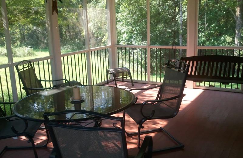 Porch View at Montfair Resort Farm
