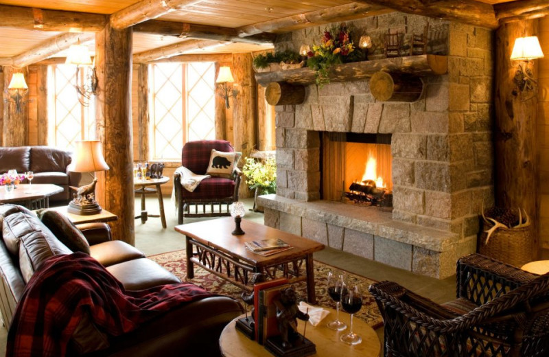 Lounge area at The Whiteface Lodge.