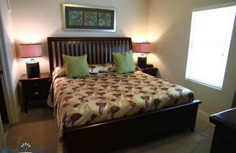 Master bedroom at Laketown Wharf.