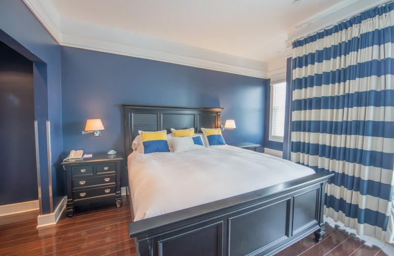 Guest room at Bay Harbor Resort and Marina.