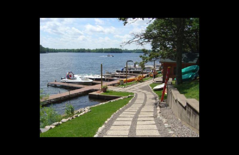 Docks at Chippewa Retreat Resort.