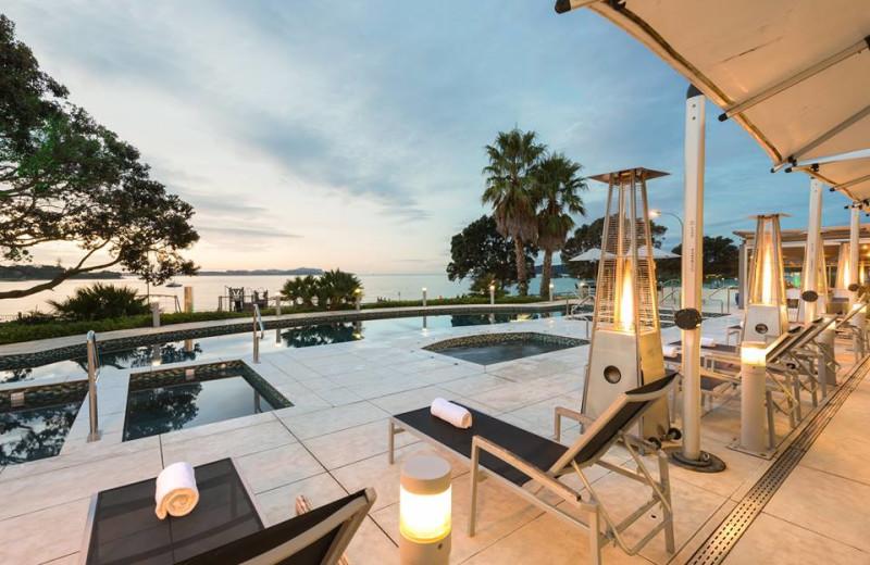 Outdoor pool at Paihia Beach Resort.