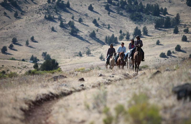 Horseback riding at Kah-Nee-Ta Resort and Spa.
