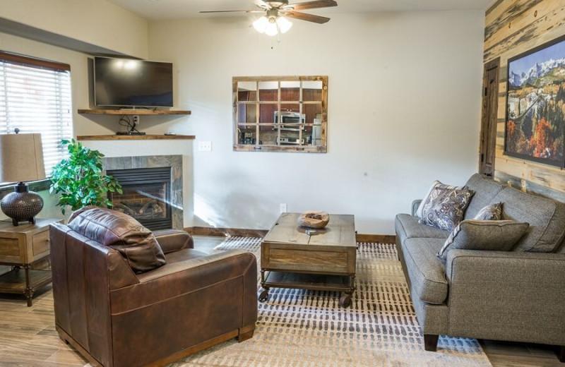 Rental living room at Fall River Village Resort Condos.