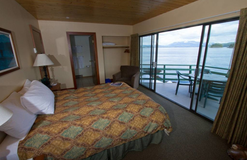 Guest room at April Point Lodge and Fishing Resort.