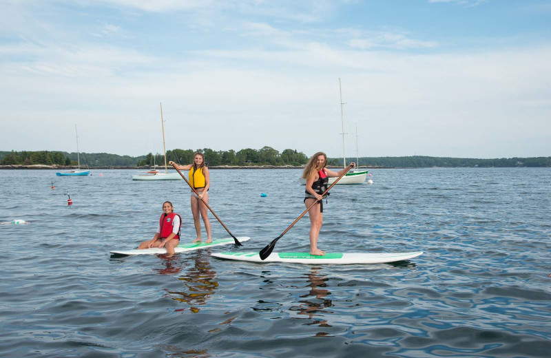 Paddle board at Linekin Bay Resort.