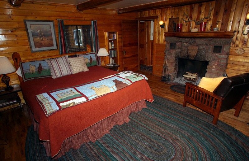 Guest suite at Tumbling River Ranch.