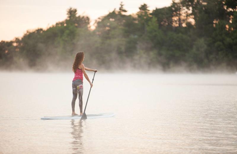 Paddle board at The Lodge at Woodloch.