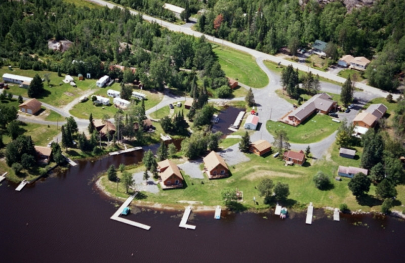 Aerial view of Ash Trail Lodge.