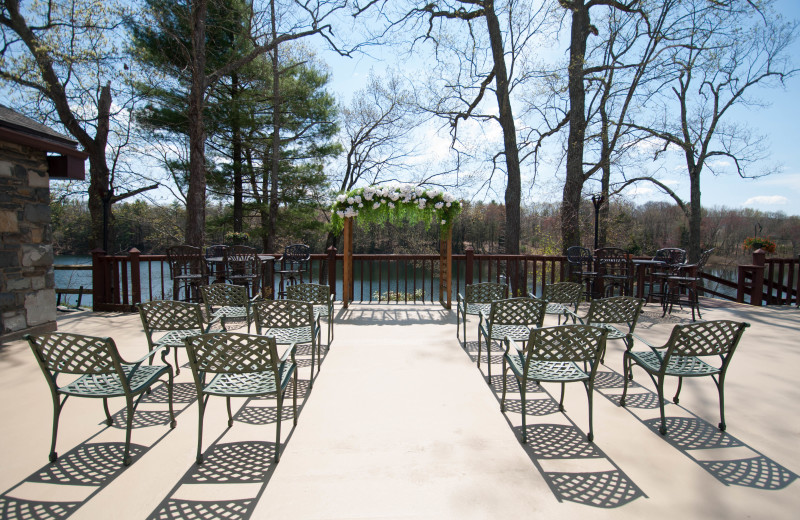 Have your wedding outdoors on the Sunset Deck and Patio at Pocono Palace Resort.