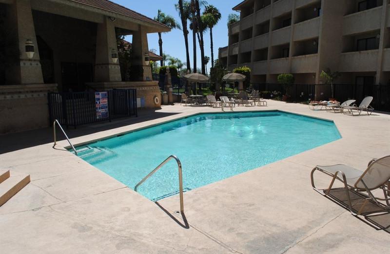 Outdoor pool at Shilo Inn Pomona Diamond Bar.
