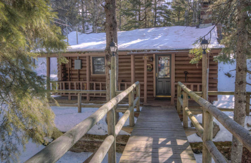 Cabin exterior at Cascade Lodge.