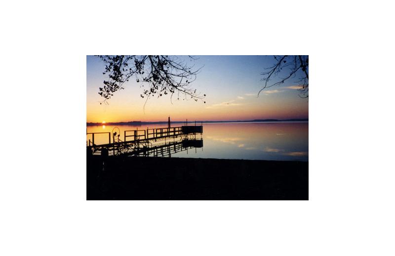 Lake view at Regnbue Haven Resort.