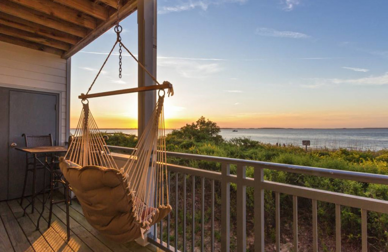 Rental balcony at Tybee Vacation Rentals.