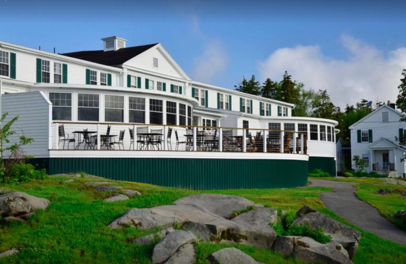 Exterior view of Newagen Seaside Inn.