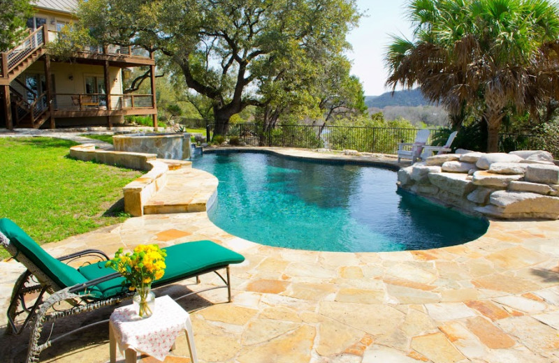 Rental pool at Hill Country Premier Lodging.