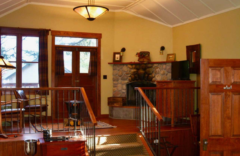 Cabin interior at Johnston Canyon Lodge & Bungalows.