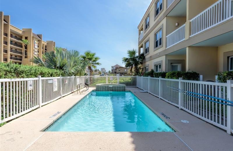 Rental pool at Padre Getaways.