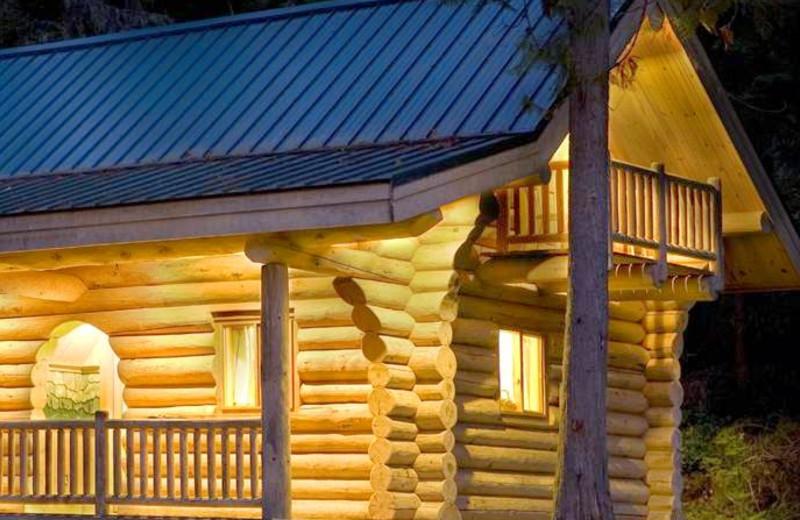 Cabin exterior at Alta Crystal Resort at Mt. Rainier.