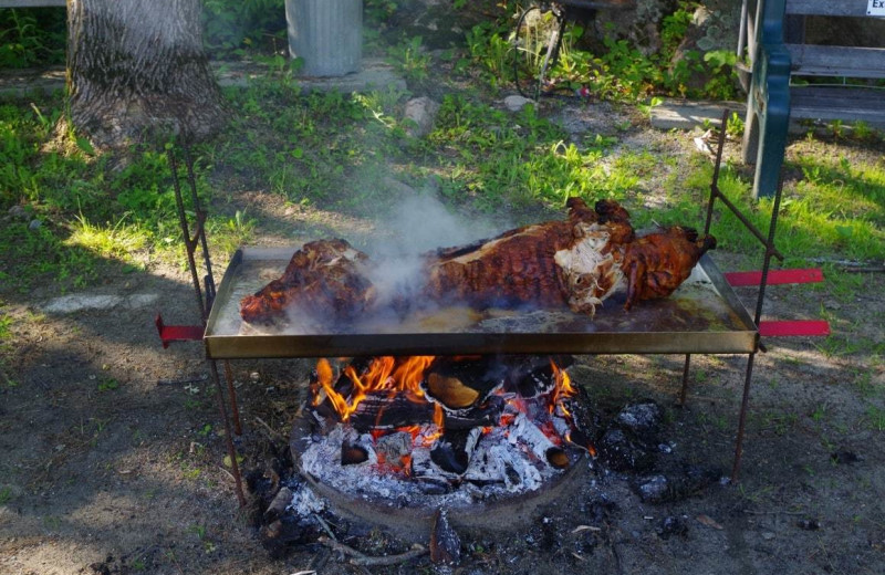 Pig roast at Deluxe Camp.