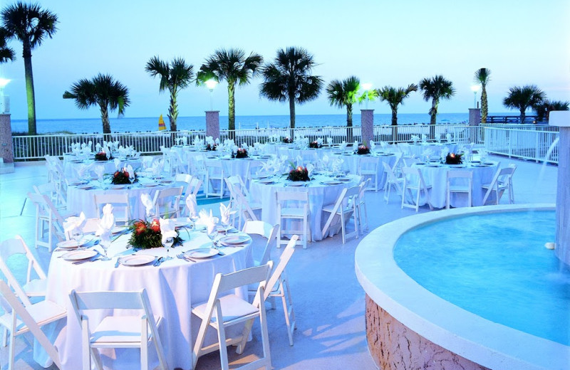 Outdoor dining at Perdido Beach Resort.