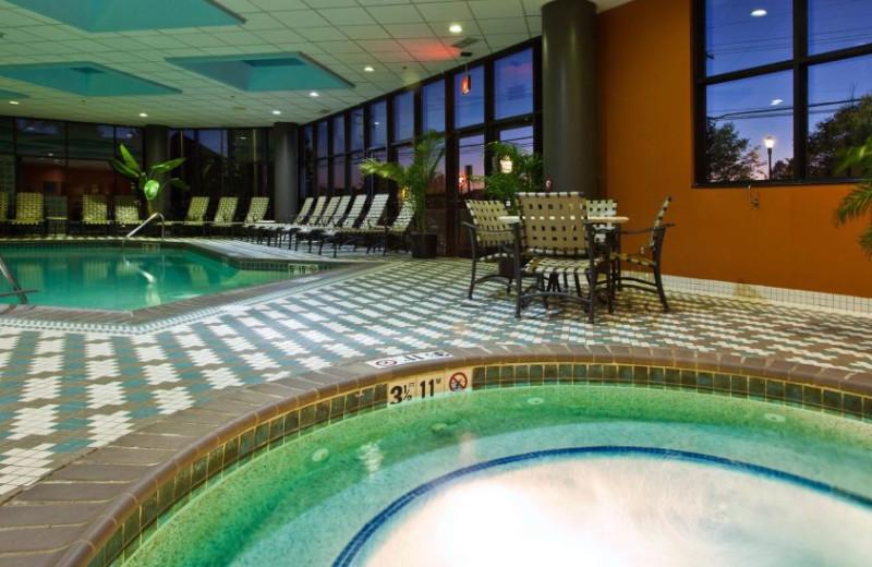 Indoor pool at Crowne Plaza Hotel Auburn Hills.