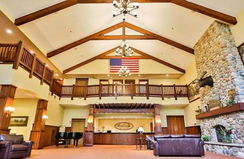 Lobby at Grand View Lodge.