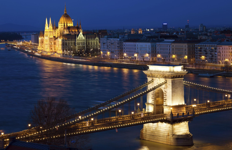 View from Le Meridien Budapest.