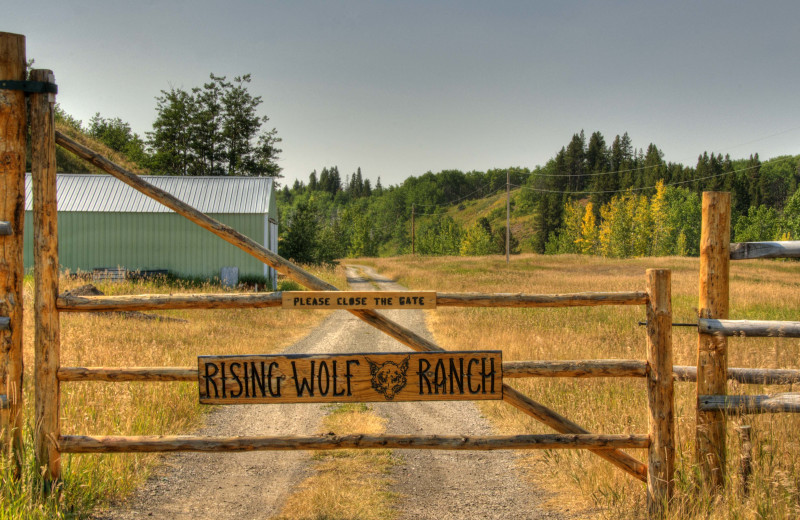 Entrance to Rising Wolf Ranch.
