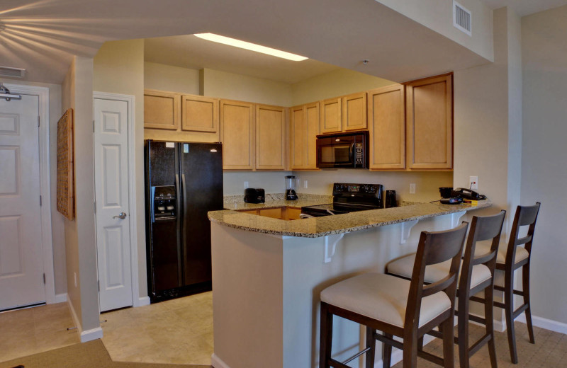 Guest kitchen at The Palms of Destin Resort & Conference Centerf.