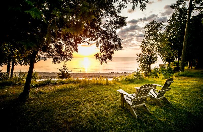 Beach view at Glidden Lodge Beach Resort.
