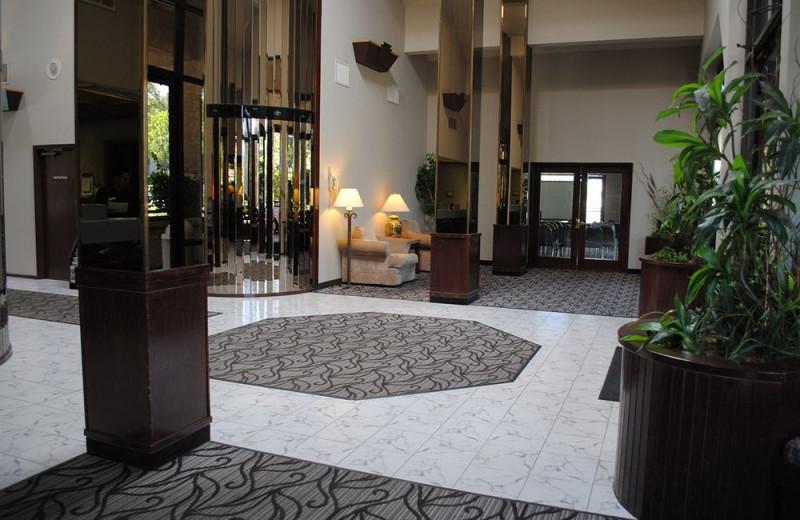 Lobby at Shilo Inn Pomona Diamond Bar.