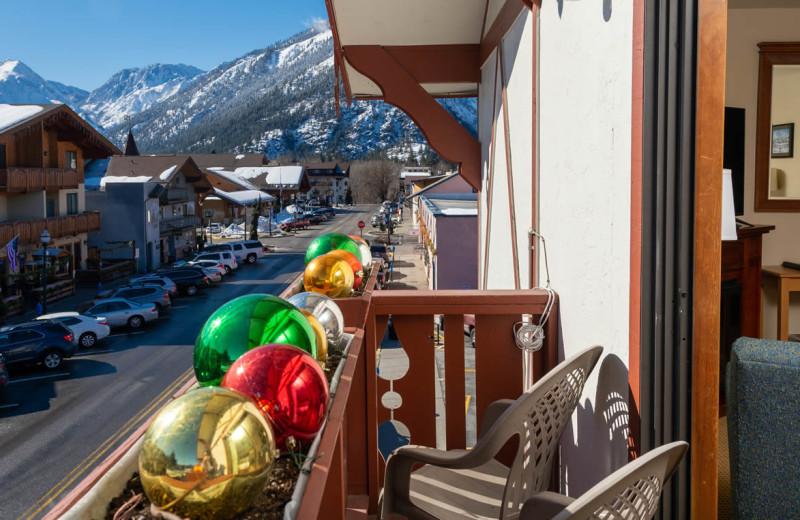 Guest balcony at Obertal Inn & Vacation Rentals.