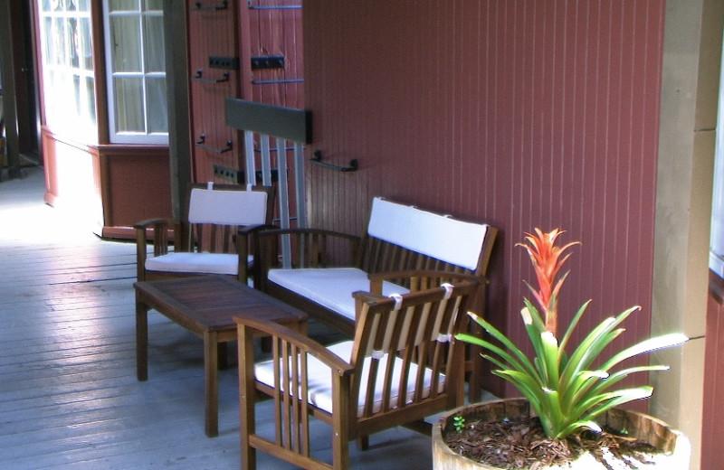 Porch view at Napa Valley Railway Inn.