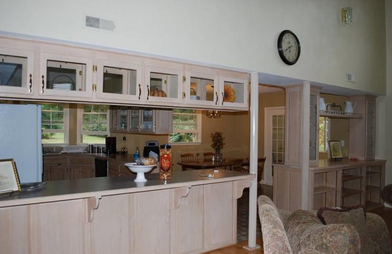 Kitchen at Big Pine Trout Farm.