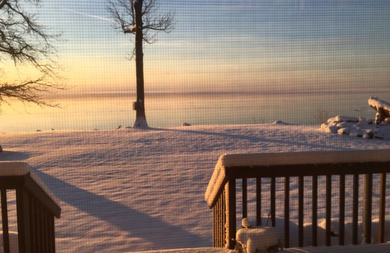 Winter sunrise at The Red Door Resort.