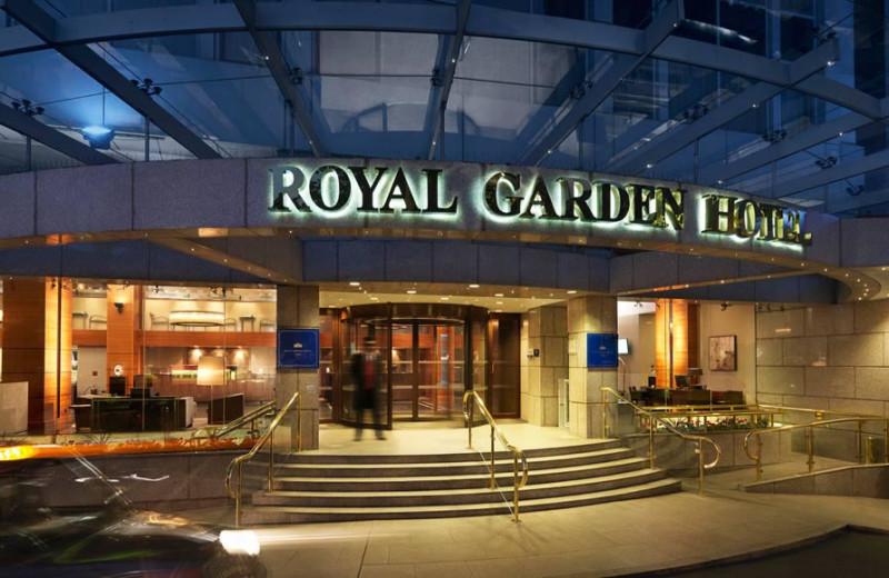 Exterior view of Royal Garden Hotel.