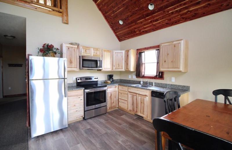 Cottage kitchen at Riverwood Resort.