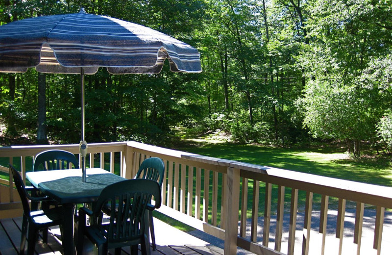 Guest deck at Chanticleer Inn.