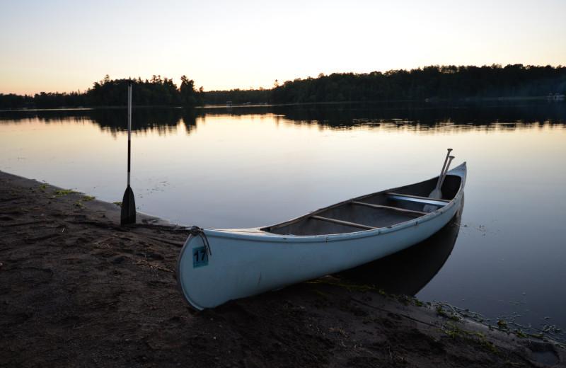 Canoe at Hanging Horn Lakeside Resort.